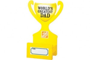 FREE Father's Day Trophy Smart Phone Holder Workshop For Kids at Home Depot on 6/4