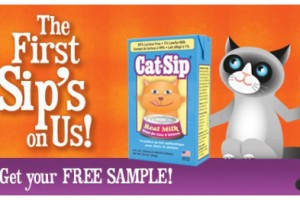 FREE Cat-Sip Real Milk Treat Carton Sample