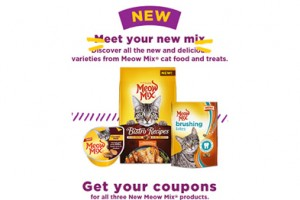 FREE Meow Mix Brushing Bites Cat Treats and Paté Wet Cups Mailed Coupons