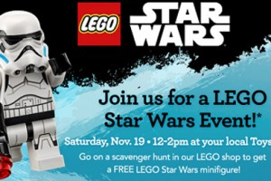FREE Star Wars Lego Event at Toys R Us on 11/19