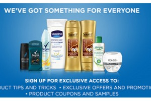 FREE Samples, Coupons, Exclusive offers and Promotions From Unilever