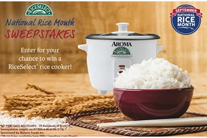 RiceSelect Rice Cooker Sweepstakes