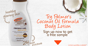 FREE Palmer's Coconut Oil Formula Body Lotion Sample