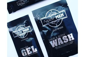 FREE Agadir Men Hair Gel, Hair & Body Wash or Beard Oil Sample