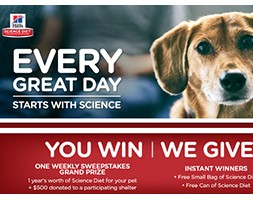 Hill's Science Diet Every Great Day Instant Win Game