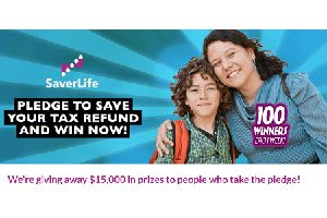 SaverLife Pledge Instant Win Game (2,500 Winners!)