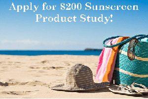 $200 Sunscreen Product Study