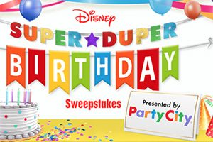 Party City Disney 'Super Duper Party' Sweepstakes (5 Winners!)