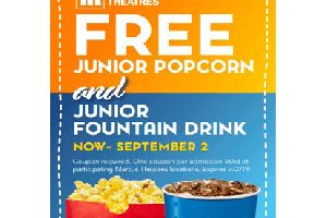 FREE Junior Popcorn and Drink at Marcus Theaters