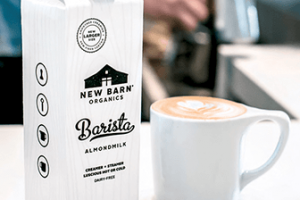 Possible FREE New Barn Organics Barista Almondmilk