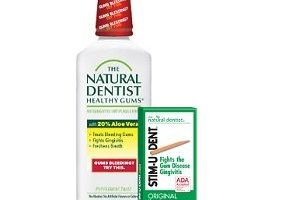 FREE The Natural Dentist Healthy Gums Mouth Rinse and Stim-U-Dent Plaque Removers Sample