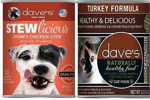 2 FREE Dave's Canned Pet Food Samples