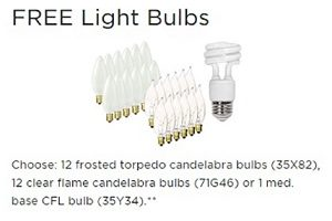 FREE Light Bulbs at Lamps Plus
