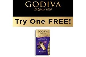 FREE Godiva Signature Mini Bar Product (Select Areas)