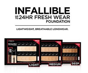 FREE Sample of L'Oreal Paris Infallible Fresh Wear Foundation