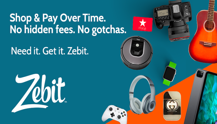 Zebit: Get $2,500 To Shop Thousands of Products Online!