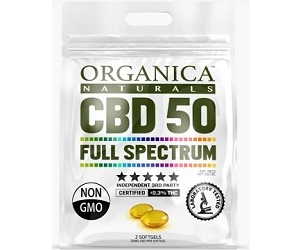 FREE Organica Naturals Full Spectrum CBD Capsules Sample